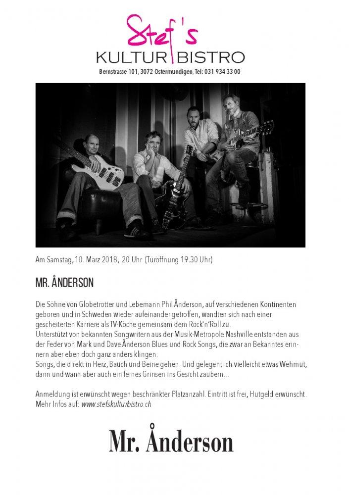 Mr.Anderson - Stefs Kulturbistro Ostermundigen