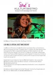 Lisa Mills - Stefs Kulturbistro Ostermundigen