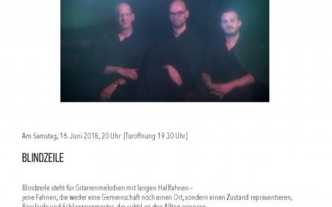 Blindzeile - Stefs Kulturbistro Ostermundigen