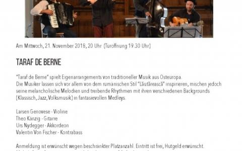 Taraf de Berne - Stefs Kulturbistro Ostermundigen
