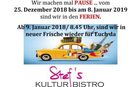 Weihnachtsferien 18 - Stefs Kulturbistro Ostermundigen