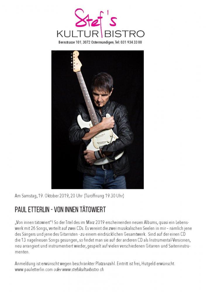Paul Etterlin - Stefs Kulturbistro Ostermundigen