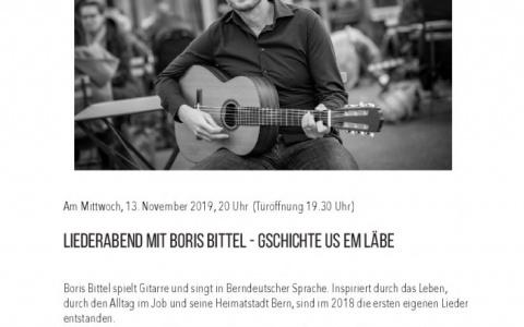Boris Bittel - Stefs Kulturbistro Ostermundigen