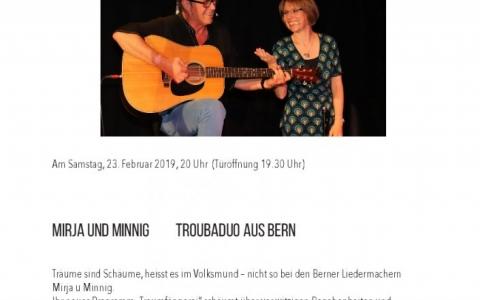 Mirja und Minnig - Stefs Kulturbistro Ostermundigen