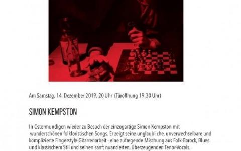 Simon Kempston  - Stefs Kulturbistro Ostermundigen
