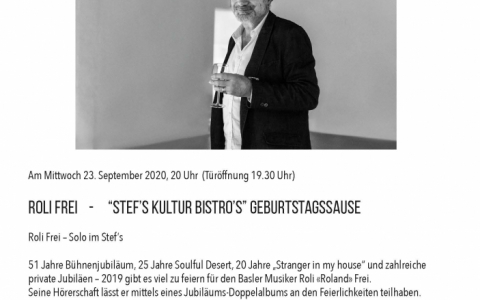 Roli Frei 2020 - Stefs Kulturbistro Ostermundigen
